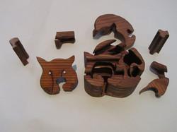 PB#290 Full Cat Puzzle Box $45
