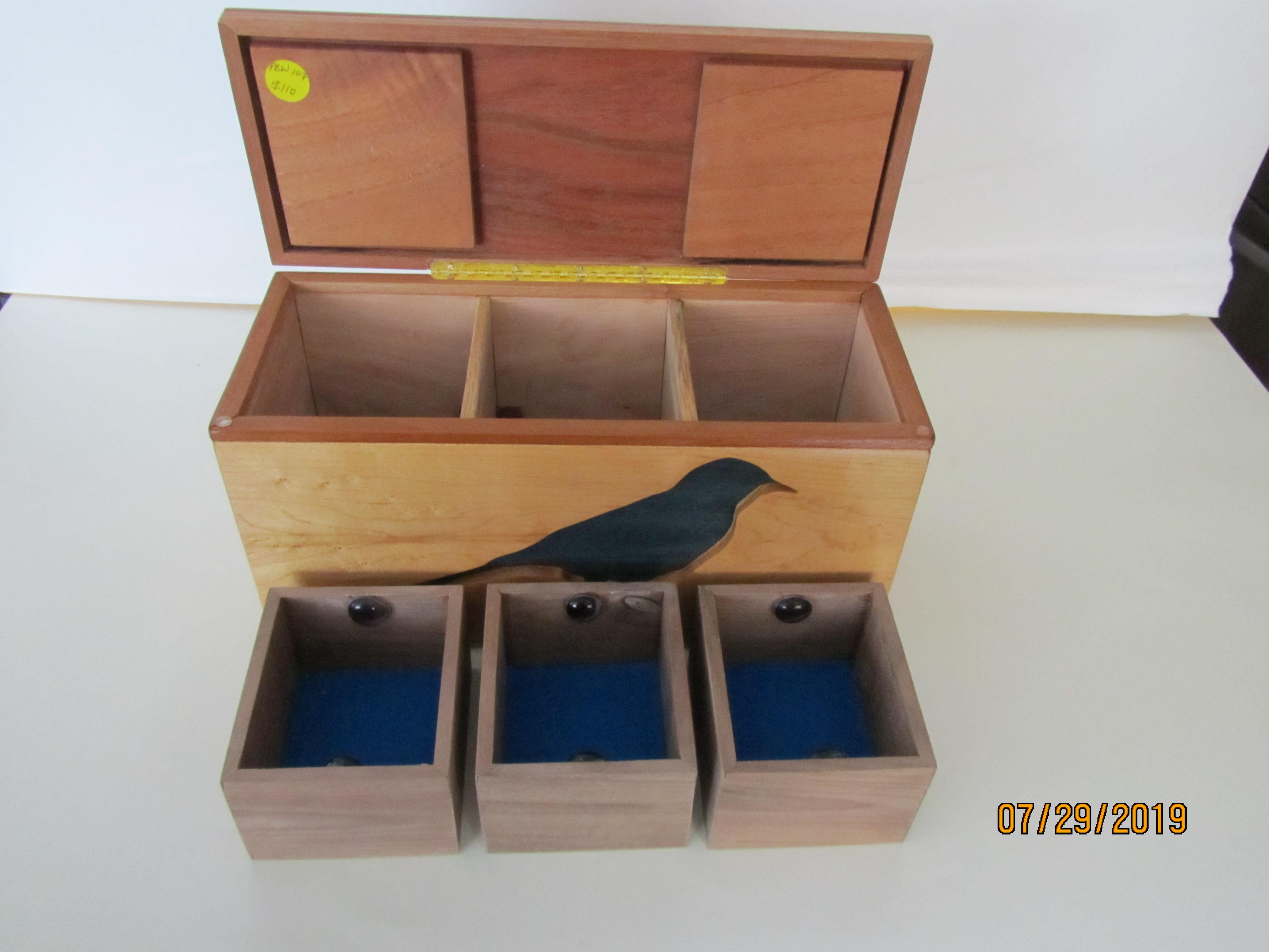 SOLD PB#103 $75  Large Blue Bird
