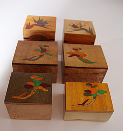 Flower Inlay Boxes