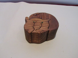 PB#290a Full Cat Puzzle Box $45