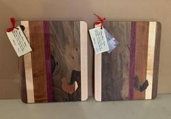 PB#427 & PB#428 Cutting Board Chicken Inlaid $45 each