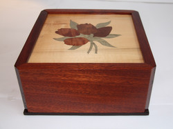 SOLD Tulip Inlay Box 2-Tier Box