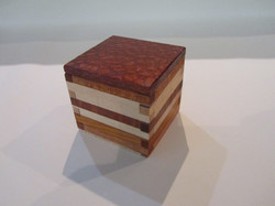 Pb#295 Small Box Lacewood Lid $15