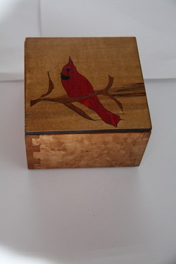 SOLD Cardinal Inlay Box