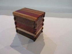 PB#297 Small Box Multi-Wood Lid $15 Exposed Box Joints
