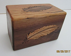 SOLD Feather Inlay Box