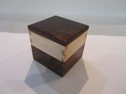 PB#298 Small Box Wenge Wood Lid $15