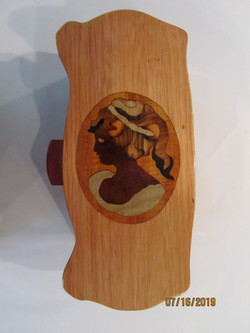 PB#249 French Marquetry Cameo Box