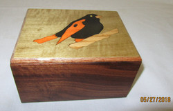 Black Orange Inlay Bird