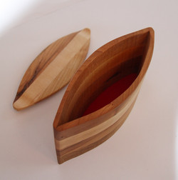 Bandsaw-cut Canoe-shaped