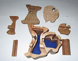 PB#129 Dog Puzzle Box $50