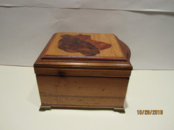 PB#263 French Marquetry Inlay Black Face $195