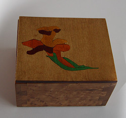 Flower Inlay Dovetail #1
