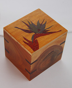 Bird of Paradise Inlay Tea Box #1