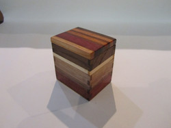 PB#296 Small Box Multi-Wood Lid $15