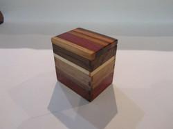 PB#296 Small Box Multi-Wood Lid $15