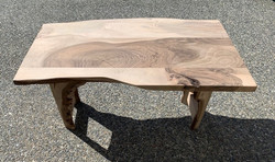 PB#436 Gifted Coffee Table for Don Beckner BC Local Live Edge Walnut - Epoxied