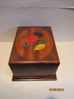 PB#259 French Marquetry Inlay 4 Roses $500