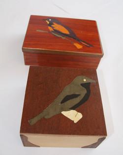 2 Bird Inlay Boxes
