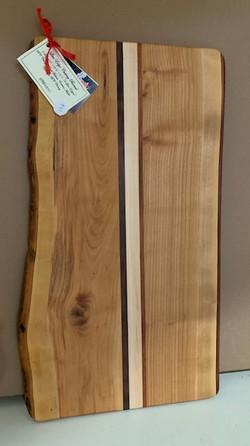 PB#370Cutting Board 2 Live Edges $905 Layers