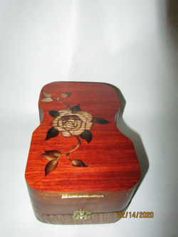PB#279 French Marquetry Guitar-Shape
