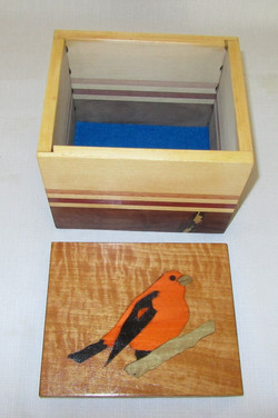 Orange Black Inlay Bird