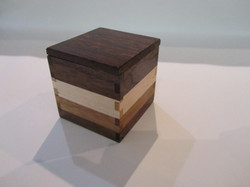 PB#299 Small Box Wenge Wood Lid $15