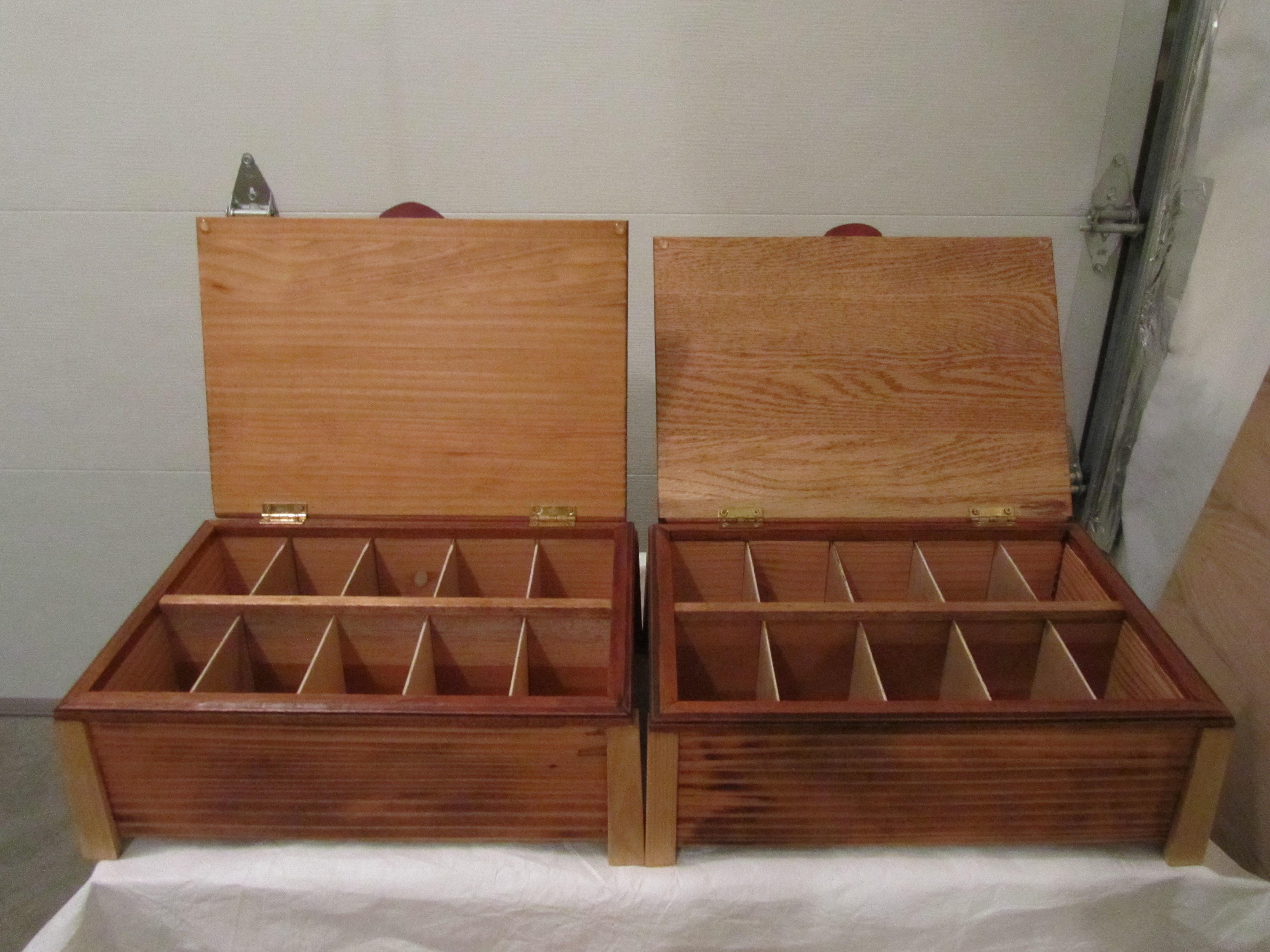 Tea boxes Christine & Nancy