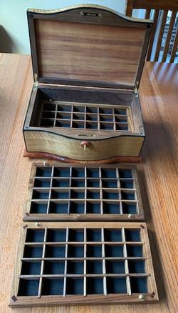 PB#409 Anigre Jewelry Box $600