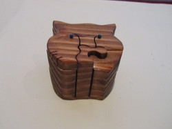 PB#289 Cat Face Puzzle Box $25