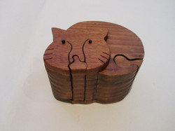 PB#290d Full Cat Puzzle Box $45