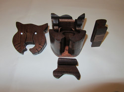 PB#289b Cat Face Puzzle Box $30