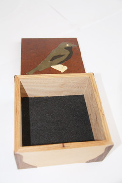 Green Bird Inlay Box