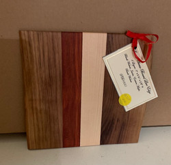 Gifted PB#350 Small Cheese Board Live Edge $10 4 Layers