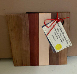 Gifted PB#349 Small Cheese Board Live Edge $10 4 Layers