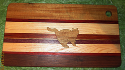 SOLD Cutting Board Cat Teak