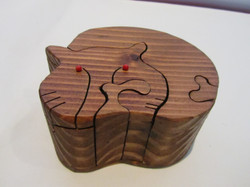 PB#290b Full Cat Puzzle Box $45