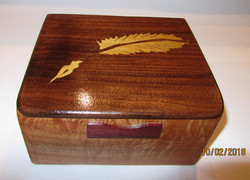 SOLD Feather Inlay Box PB#188