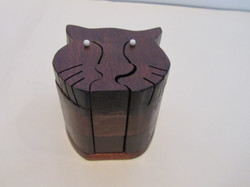 PB#289a Cat Face Puzzle Box $30