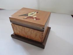 PB#307 French Marquetry Inlay Gross Beak Bird $95