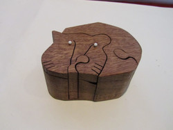 PB#290e Full Cat Puzzle Box $55