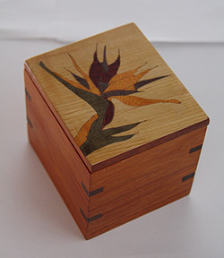 SOLBird of Paradise Inlay Tea Box #2