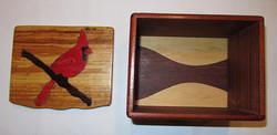 PB#187 Cardinal Inlay Box $40