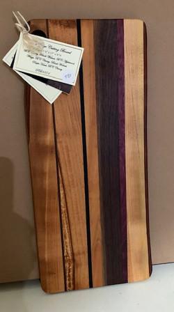 PB#374 Cutting Board 1 Live Edge $80 8 Layers