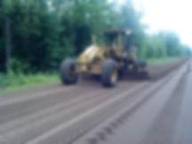 Pitlik & Wick Excavator Excavating Off Road Truck Earthwork Grader Leveling New Road Pulverized Asphalt