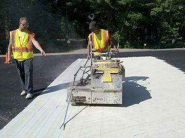 Pitlik & Wick Thermoplastic Snowmobile Crossings Pavement Maintenance