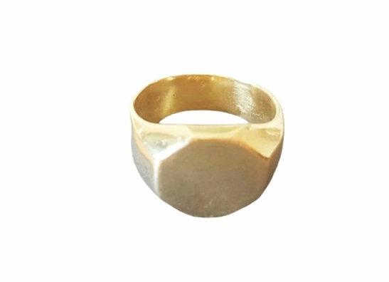 טבעת חותם זהב מתומן  CR009