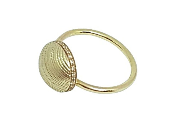 טבעת כיפת זהב עם טקסטורה  CR005