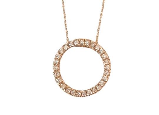 תליון חישוק זהב משובץ יהלומים   CN001-W
