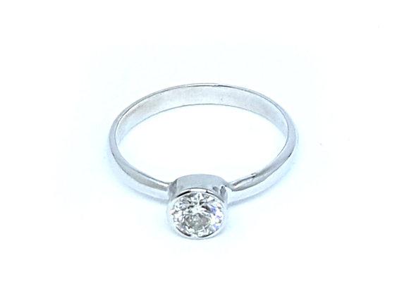 טבעת זהב ויהלום בשיבוץ כוס  CR010